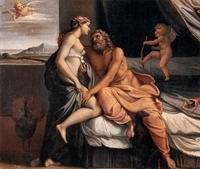 Zeus e Era - Annibale Carracci